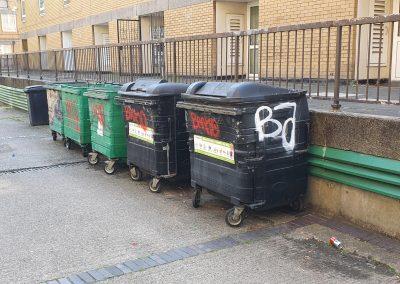 Graffiti on Bins