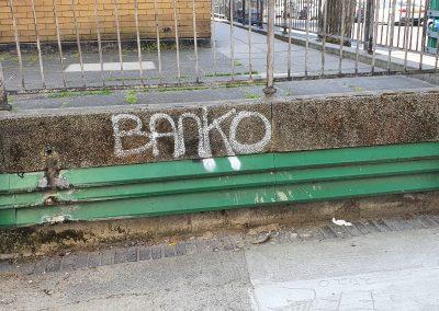 Graffiti outside Connisborough