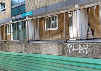 Graffiti in front of Ravenscar