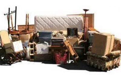 Throwing away bulky rubbish and furniture